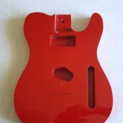 Cuerpo Tele Fresno Candy Red con binding